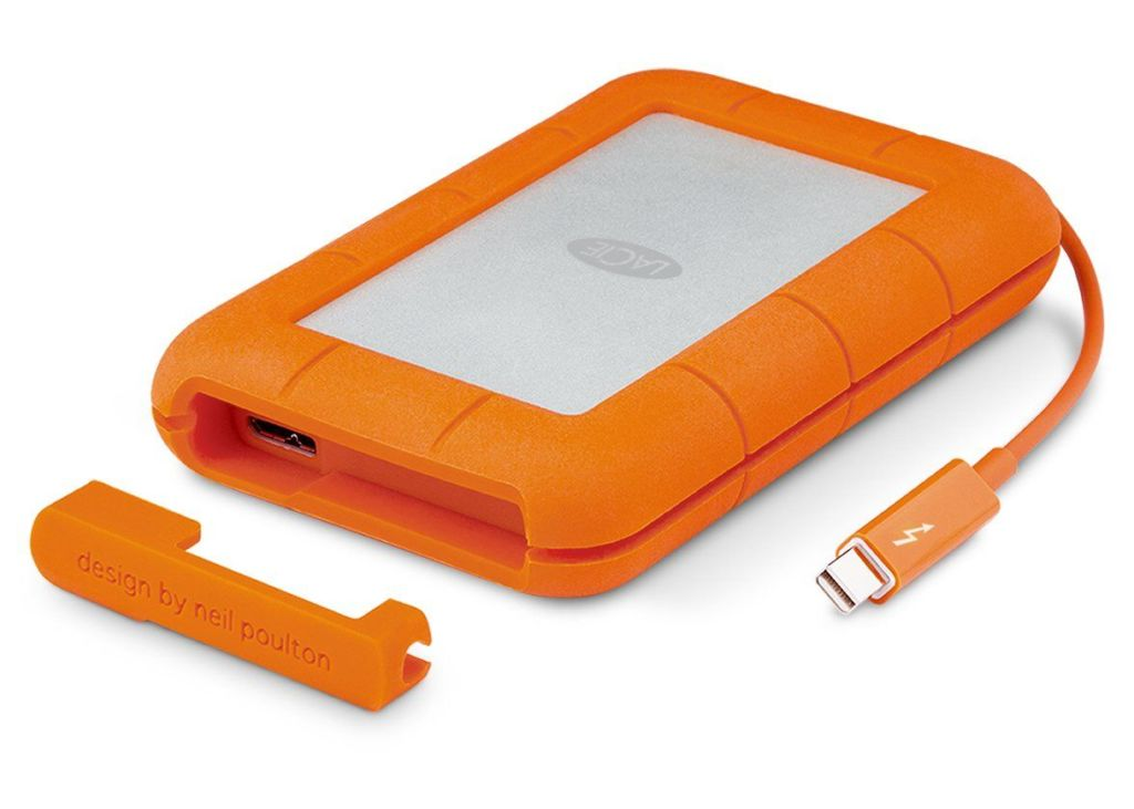 LaCie Rugged Thunderbolt USB 3.0 2TB External Hard Drive Portable