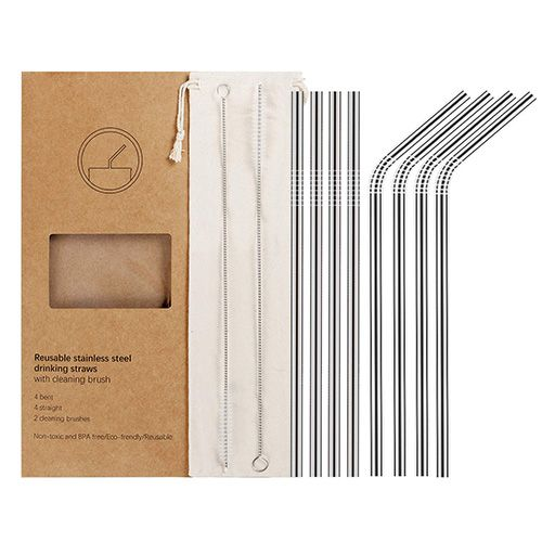 Reusable Stainless Steel Metal Straws