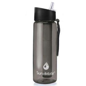SurviMate Filtered Water Bottle BPA Free