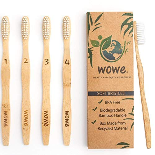 Wowe Lifestyle Natural Organic Bamboo Toothbrush